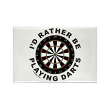 DARTBOARD/DARTS Rectangle Magnet