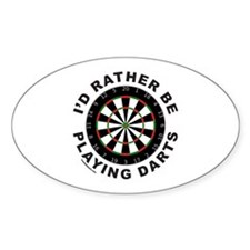DARTBOARD/DARTS Oval Decal
