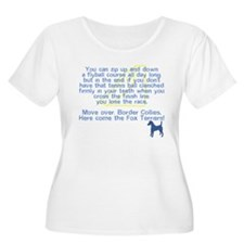 Move Over Smooth Fox Women's Plus Size Tee Shirt