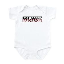 Eat Sleep Razorbacks Infant Bodysuit