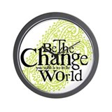 Paisley Green - Be the change Wall Clock