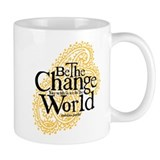 Paisley Peach - Be the change Coffee Mug