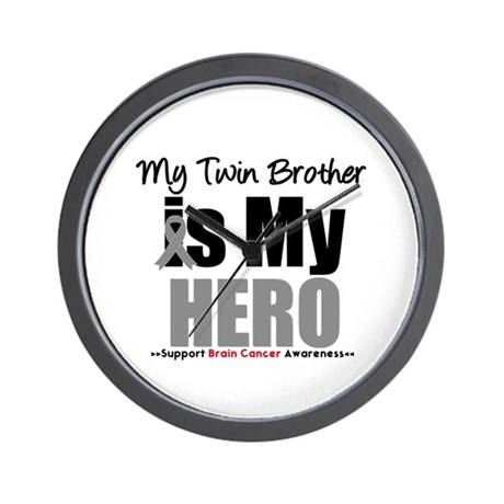 BrainCancerHero Twin Brother Wall Clock