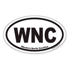 Western North Carolina WNC Euro Oval Decal
