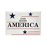 Patriotic God Bless America Rectangle Magnet