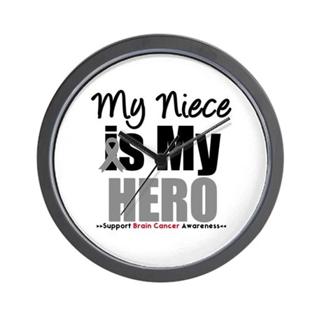 BrainCancerHero Niece Wall Clock
