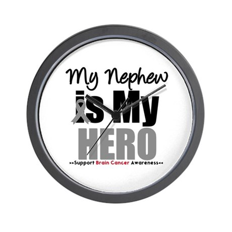 BrainCancerHero Nephew Wall Clock