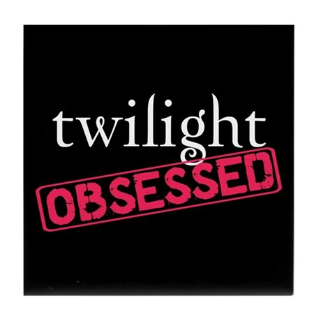 Twilight Obsessed Tile Coaster