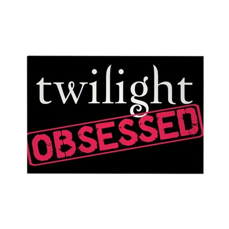 Twilight Obsessed Rectangle Magnet
