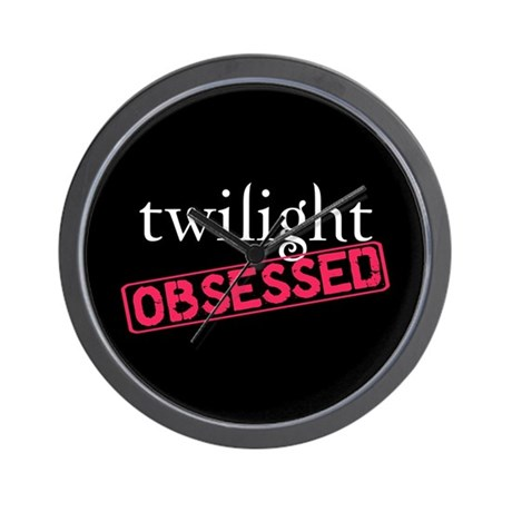 Twilight Obsessed Wall Clock