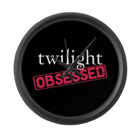 Twilight Obsessed Large Wall Clock