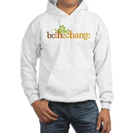 Be the change - Earthy - Floral Hooded Sweatshirt
