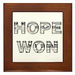 Hope Won Framed Tile