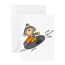 Snow Tubing Greeting Card