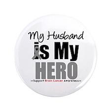 "BrainCancerHero Husband 3.5"" Button"