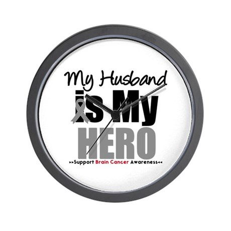 BrainCancerHero Husband Wall Clock