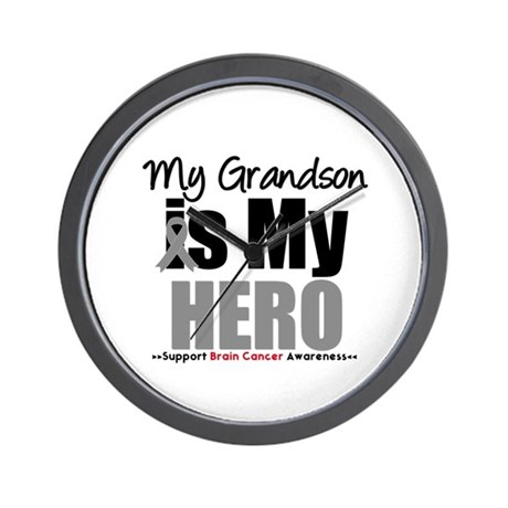 BrainCancerHero Grandson Wall Clock