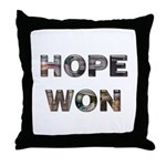 Hope Won Throw Pillow