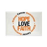 KidneyCancerHopeLove Rectangle Magnet
