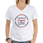 Parkinson'sDiseaseSupport Women's V-Neck T-Shirt