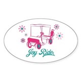 Ladies Golf Joy Ride Oval Decal