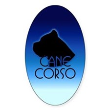 Blue Cane Corso Oval Decal