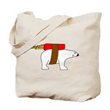 Rocket-Powered Polar Bear Tote Bag