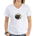 Bobcat in Brush Women's V-Neck T-Shirt