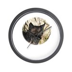 Bobcat in Brush Wall Clock