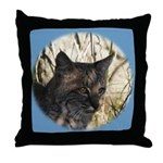 Bobcat in Brush Throw Pillow
