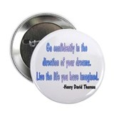 "henry David Thoreau quote 2.25"" Button"