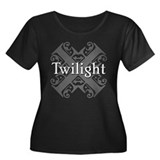 Twilight Women's Plus Size Scoop Neck Dark T-Shirt