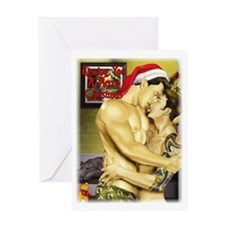 kissing you merry christmas Greeting Card