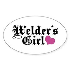 Welder's Girl Oval Decal