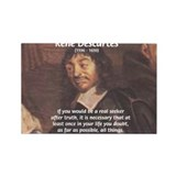 Philosopher: Rene Descartes Rectangle Magnet (100