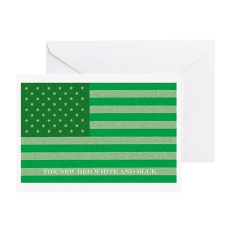 Green America Greeting Card