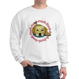 Holly Yellow Lab Pup Xmas Sweatshirt