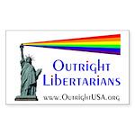 Outright Libertarians Sticker (Rectangle)