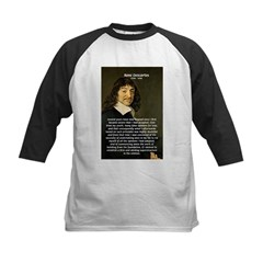 Rene Descartes Kids Baseball Jersey