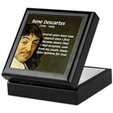 Rene Descartes Keepsake Box