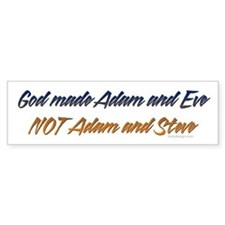 God made Adam & Eve... Bumper Bumper Sticker