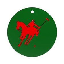 Polo Christmas Ornament (Round)