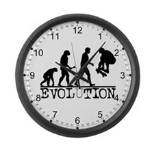 EVOLUTION Skateboarding Large Wall Clock