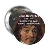 Philosopher Rene Descartes 2.25&quot; Button (10 pack)