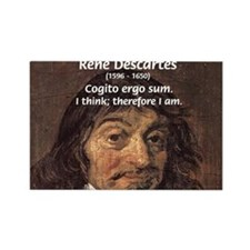 Philosopher Rene Descartes Rectangle Magnet