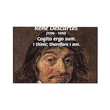 Philosopher Rene Descartes Rectangle Magnet (10 pa