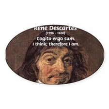 Philosopher Rene Descartes Oval Decal