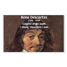 Philosopher Rene Descartes Rectangle Decal