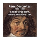 Philosopher Rene Descartes Tile Coaster
