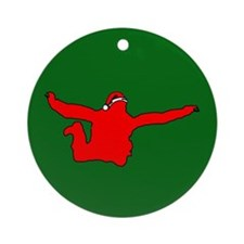 Christmas Skydiver Ornament (Round)